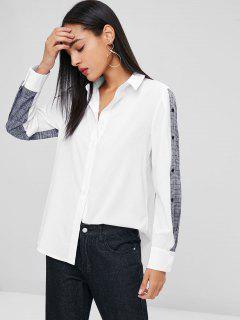 Chemise Tunique à Carreaux - Blanc M