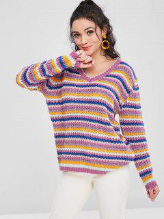 Colorful Oversized Sweater - Multi