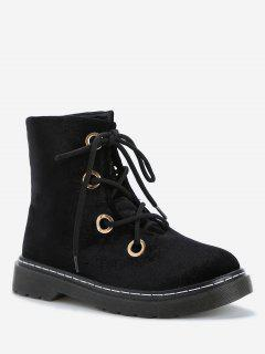 Leisure Outdoor High Top Lace Up Boots - Black 36