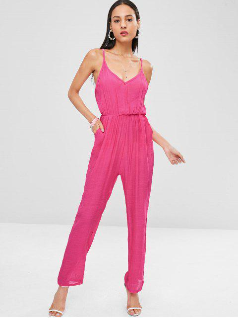 new Cami Pockets Maxi Jumpsuit - DIMORPHOTHECA MAGENTA L Mobile