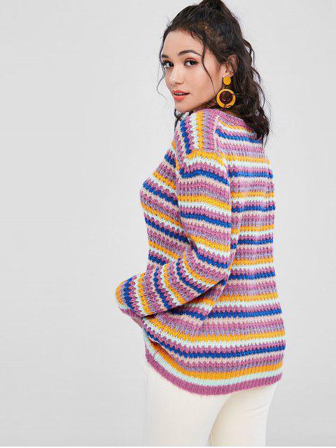 カラフルな大きいサイズセーター - マルチ ワンサイズ Mobile