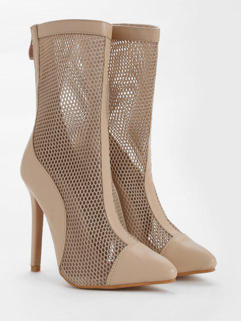 fashion Pointed Toe High Heel Fashion Boots - APRICOT 38 Mobile