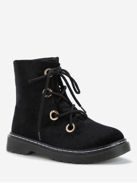 unique Leisure Outdoor High Top Lace Up Boots - BLACK 37 Mobile