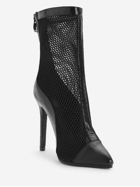 women's Pointed Toe High Heel Fashion Boots - BLACK 40 Mobile