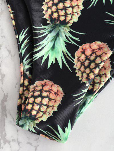 Lace-up Pineapple Bikini Set