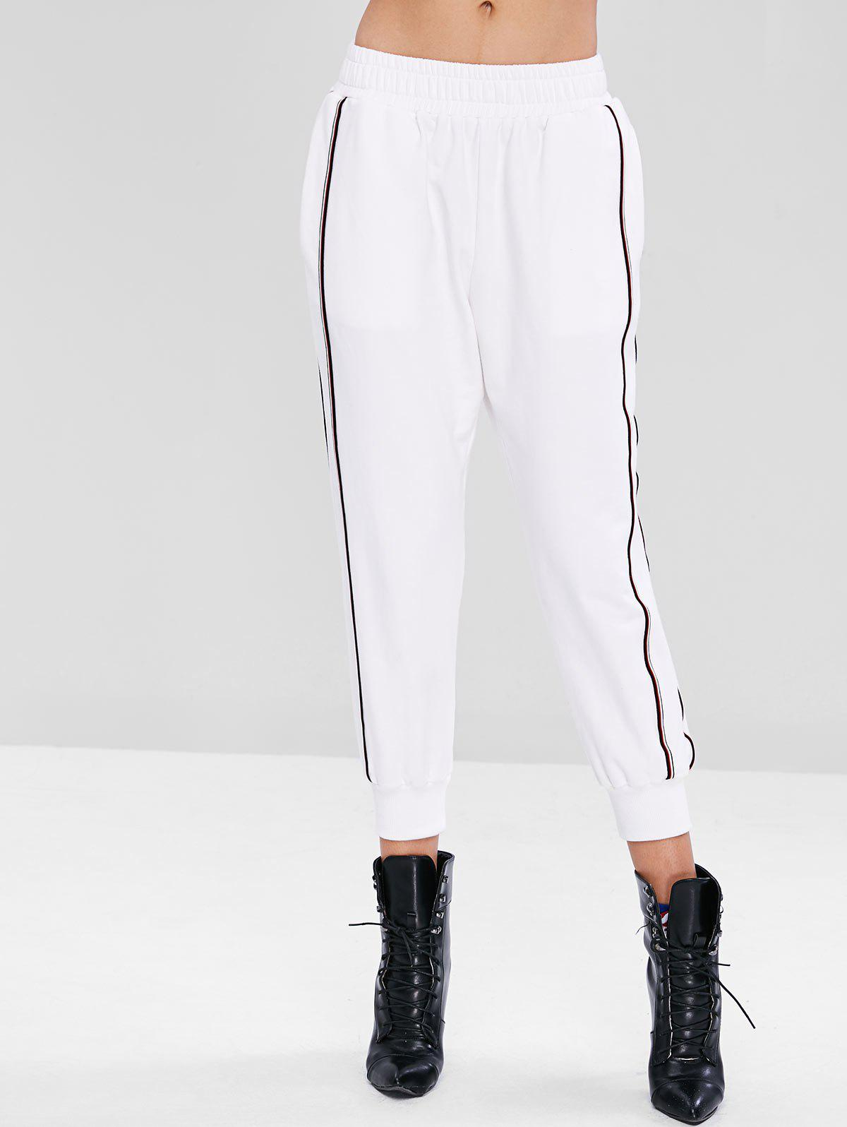 Sporty Striped Panel Ninth Pants