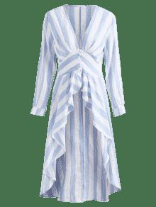 Largas 233;trico Azul Top Rayas Marino Con S Asim wTHfT64