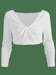 Neck Corta Blanco V Camiseta S Twist SCwpRxq
