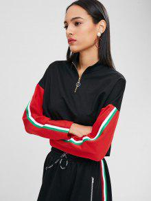 Color Mock Block Neck S Negro Sudadera OpfwEqxx