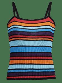 Azul Cami De A Top Colores Claro Rayas BnFzwZwqXx