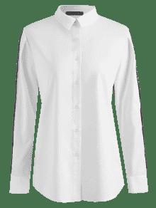 De 250;nica Cuadros S Blanco T Cuadros Casual Camisa De A wvqfIY