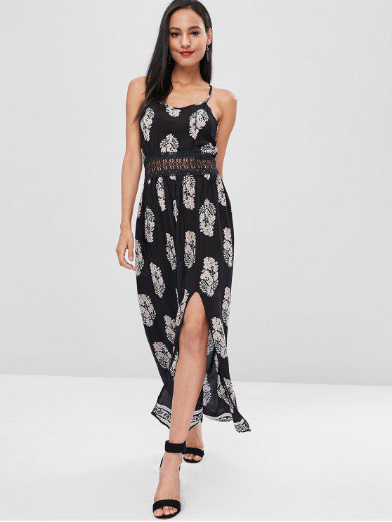 فستان كروشيه تريم من كامي - أسود XL