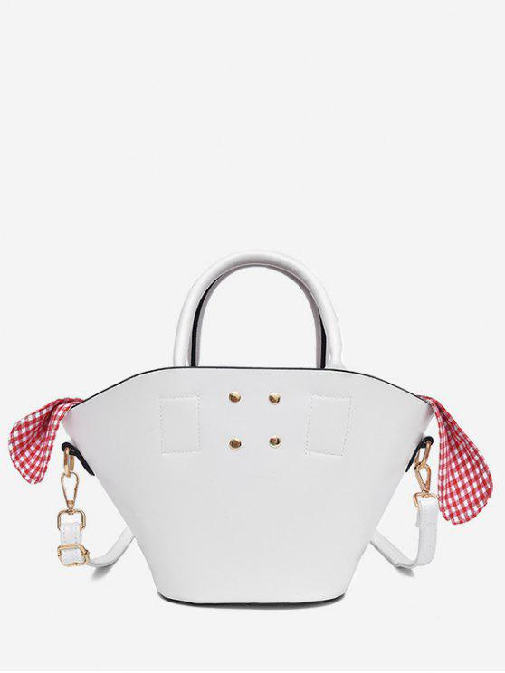 fashion Solid Leisure Holiday All Purpose Tote Bag - WHITE
