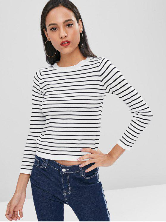 affordable Striped Knitwear - WHITE ONE SIZE