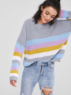 Pullover Bunter Streifen Pullover - Multi