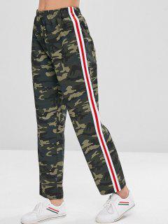 Straight Leg Camo Print Twill Pants - Acu Camouflage S