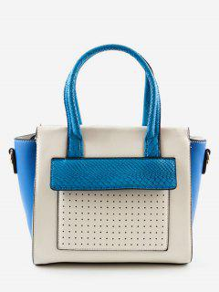 Contrasting Color Personalized Chic Handbag - Blue