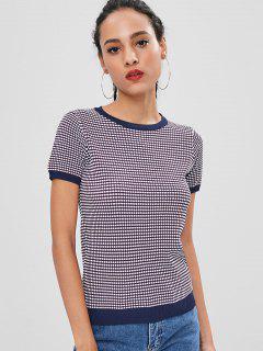 Contraste Trim Short Sleeve Knitwear - Multi