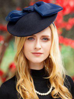 Sombrero De La Fiesta Del Té Big Bowknot De Estilo Británico - Azul Profundo