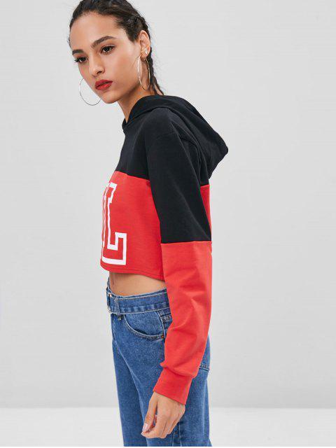 فتاة جرافيك طبقتان هوديي - أسود L Mobile