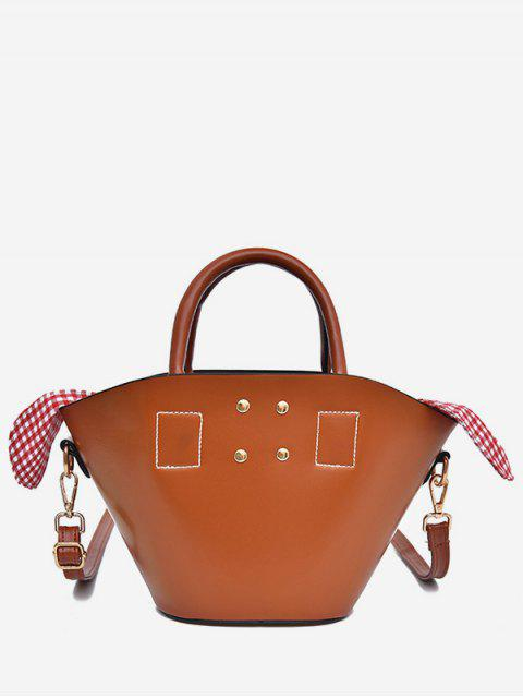 latest Solid Leisure Holiday All Purpose Tote Bag - BROWN  Mobile