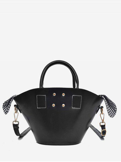 trendy Solid Leisure Holiday All Purpose Tote Bag - BLACK  Mobile