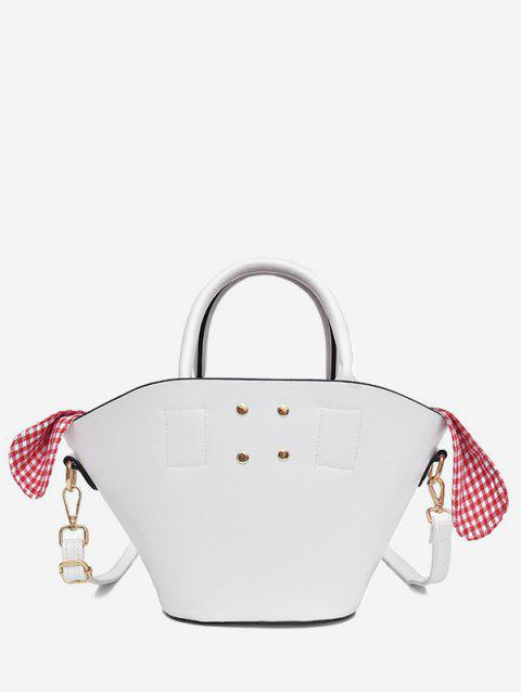 fashion Solid Leisure Holiday All Purpose Tote Bag - WHITE  Mobile