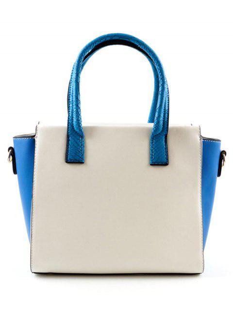 Контрастный цвет Персонализированная Шикарная Сумка - Синий  Mobile