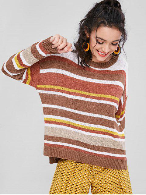 women's Stripe Oversized Sweater - MULTI ONE SIZE Mobile