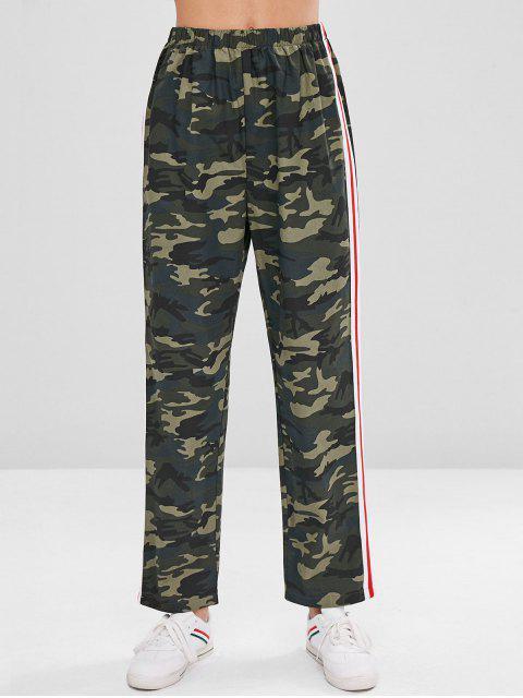 Pantalones de sarga con estampado camuflado y pierna recta - ACU Camuflaje S Mobile