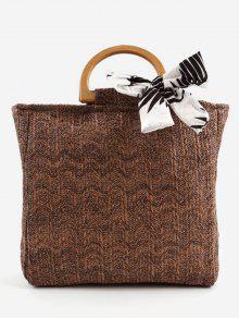 عارضة حمل المنسوجة خشبية حمل حقيبة - قهوة