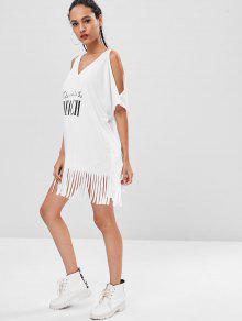 Graphic Camiseta Blanco Estampada Fringe Fringe qRw4txR