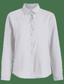 Bordada Algod M Claro De Camisa Gris 243;n tHgqBzwa