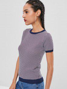 f96787443ece7d Contrast Trim Short Sleeve Knitwear; Contrast Trim Short Sleeve Knitwear ...