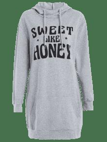 Honey Nube Sweet Con Gris Sudadera Like S Capucha Xzz4Z