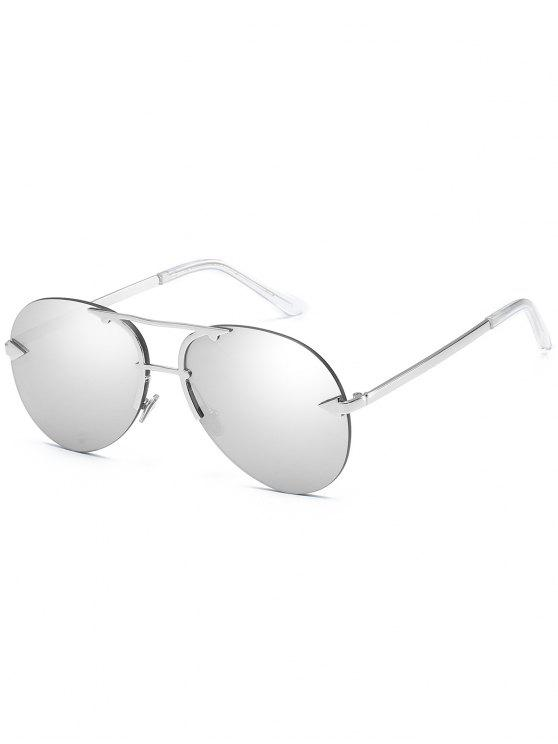 Anti-Ermüdung Pfeil Top Bar Randlose Sonnenbrille - Platin
