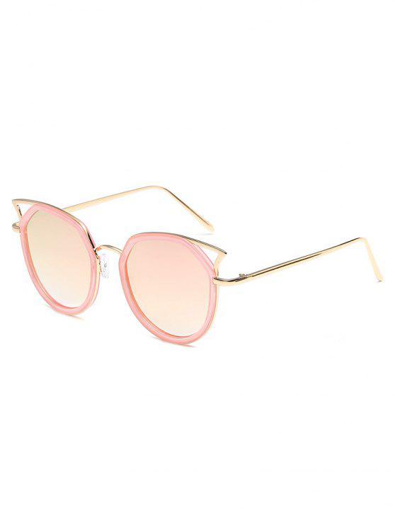 مكافحة التعب عبور الجوف خارج الإطار المعدني النظارات الشمسية - بينك الزهر
