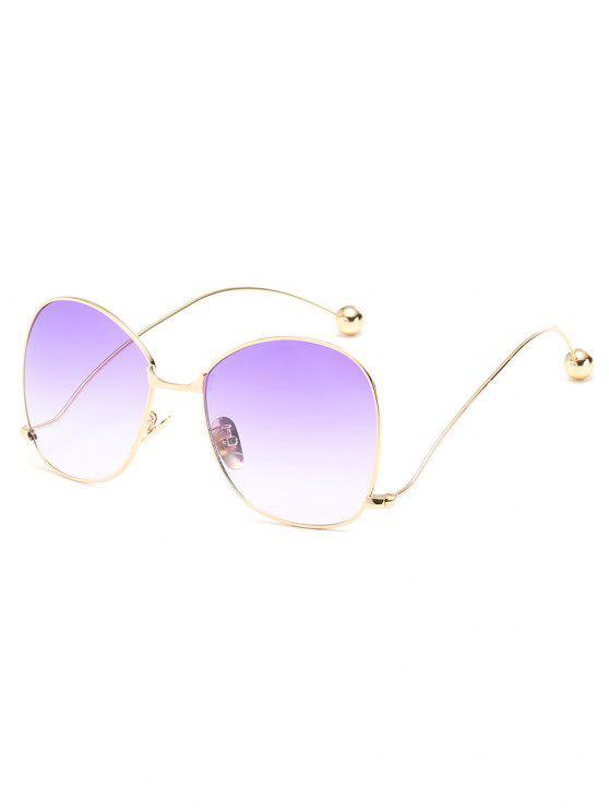 فريدة من نوعها سبيكة الإطار المتضخم عظم الساقين النظارات الشمسية - هيليوتروب بيربل
