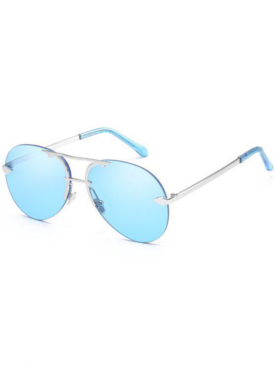 مكافحة التعب السهم الأعلى شريط النظارات الشمسية بدون حواف - سماء الأزرق