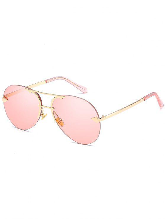 مكافحة التعب السهم الأعلى شريط النظارات الشمسية بدون حواف - زهري