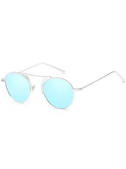 Anti-Ermüdungs-dünne Metallrahmen-Oval-Sonnenbrille - Himmelblau  Mobile