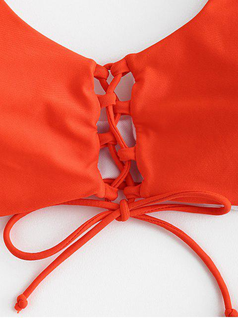 Tank-Bikini-Set mit Schnürung - Leuchtend Orange L Mobile