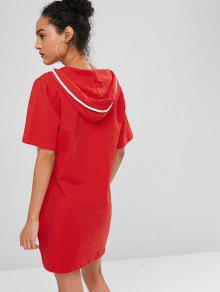 243;n De Con Bomberos S De Medio Panel De Sudadera Rayas Vestido Plateado Cami Rojo De 7qPBxxO