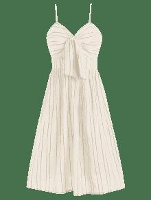 Albaricoque S Con Vestido Nudo Line De Rayas De A Cami qZxwZP8zp