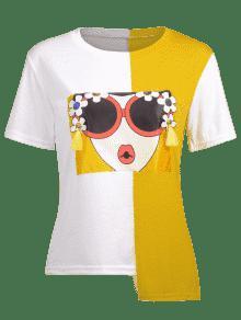 Empalmada Empalmada Color Camiseta Camiseta Gr Gr Empalmada De Color De Camiseta w5qTI5