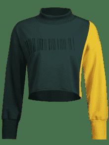 S Bordada Dos De Oscuro Tonos Verde Sudadera Yd1wqF1