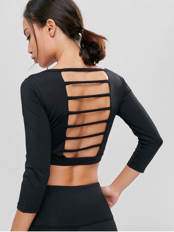 Camiseta de ciclismo acolchada con tirantes deportivos - Negro L