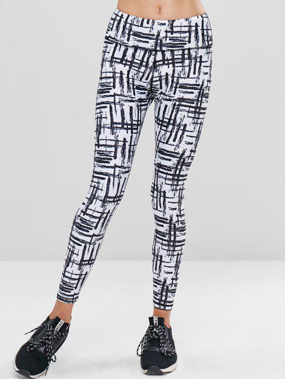 outfit Scrawl High Waisted Sports Leggings - MULTI L