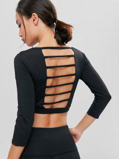 Ladder Sports Padded Crop Tee - Black S