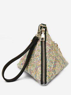Wrist Strap Triangle Handbag - Multi-a